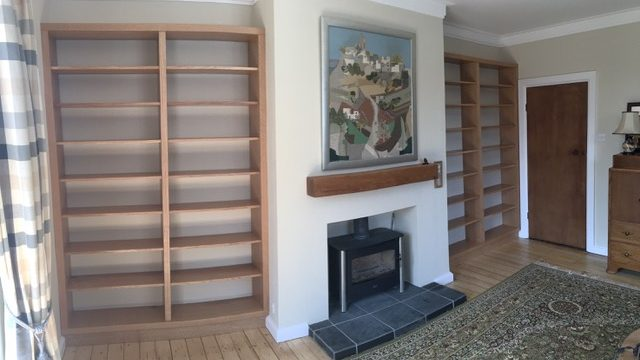 Chris Barr, fitted bookshelves